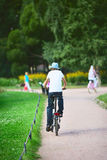 Teenager on Bicycle Royalty Free Stock Photo