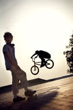 Teenager on a bicycle Royalty Free Stock Photos