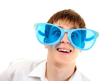 Teenager in Big Glasses Stock Photo