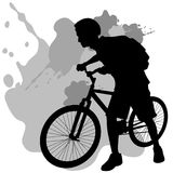 Teenager With Bike Royalty Free Stock Photography