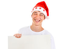 Teenager with Blank Board Royalty Free Stock Image
