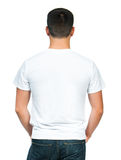 Teenager With Blank White Shirt Stock Image