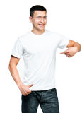 Teenager With Blank White Shirt Stock Photography