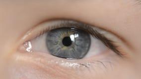 Teenager blue eye stock video footage