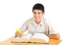 Teenager with Book Stock Images