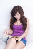 Teenager with book Stock Photo