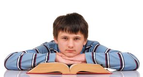 Teenager and Book Royalty Free Stock Photo