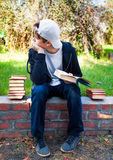 Teenager with a Book Royalty Free Stock Photo
