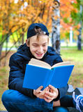 Teenager with the Book Stock Photo