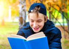Teenager with a Book Stock Photo