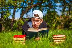 Teenager with a Book Stock Photos