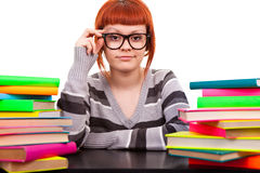 Teenager with books Royalty Free Stock Photography