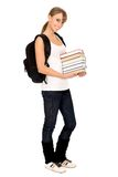 Teenager with books Stock Images