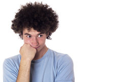 Teenager with a bored look on his face. Stock Photos