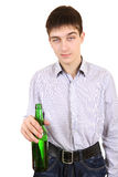 Teenager with Bottle of the Beer Stock Image