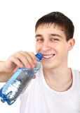 Teenager with Bottle of Water Royalty Free Stock Image