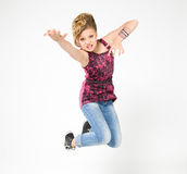 Teenager in bounce, dressed in rock style Royalty Free Stock Photo