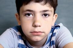 Teenager Boy Close-up Face Portrait Royalty Free Stock Image