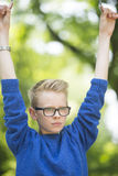 Teenager boy confident outdoor Royalty Free Stock Images