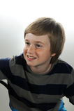 Teenager boy. Cute teenager boy with blond hair royalty free stock image