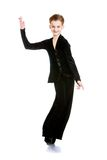 Teenager boy in a dance costume Stock Photography