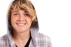 Teenager boy headshot. Cute blond teenager boy headshot isolated on white Stock Image