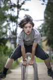 Teenager boy is jumping Royalty Free Stock Images