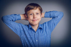 Free Teenager Boy Of 10 Years European Appearance Feels Stock Photos - 49128403