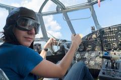 Teenager boy pilot Stock Images