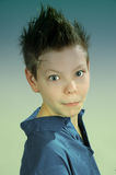 Teenager. Boy  with punk   hairstyle Royalty Free Stock Photography