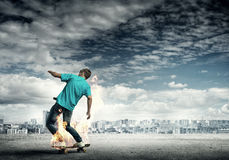Teenager boy on skate Royalty Free Stock Photos