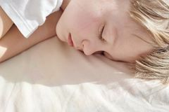 Teenager Boy Sleeping Stock Photography
