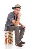 Teenager boy student Royalty Free Stock Images