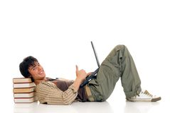 Teenager boy student Stock Photos