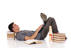 Teenager boy student stock images