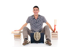 Teenager boy student Royalty Free Stock Photos