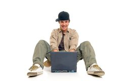 Teenager boy student Stock Photo