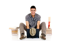 Teenager boy student Stock Photography