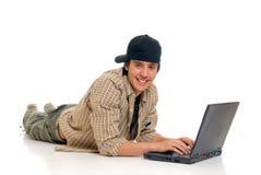 Teenager boy student Stock Image