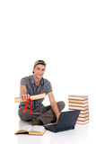 Teenager boy student Stock Photo