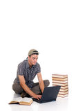 Teenager boy student Stock Photos
