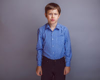 Teenager boy of 10 years European appearance is Stock Image