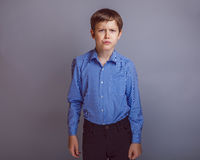 Teenager boy of 10 years European appearance Royalty Free Stock Images