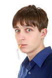 Teenager with Broken Cigarette Stock Photography