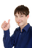 Teenager with Broken Cigarette Stock Image