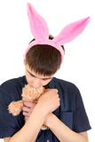 Teenager with Bunny Ears Royalty Free Stock Photo