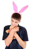Teenager with Bunny Ears Stock Photo