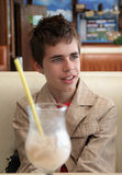 Teenager in Cafe Stock Photo