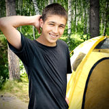 Teenager in the Camp Stock Image