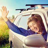 Teenager in a Car Royalty Free Stock Image
